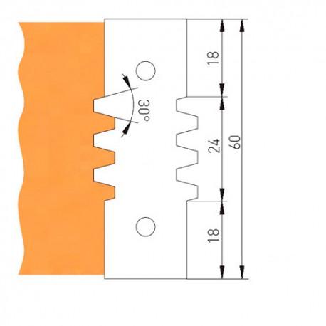 Jeu de 2 plaquettes 1 dent TVF130Z21ZPM pour TVF130 - Holzmann