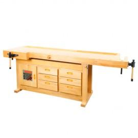 Etabli bois 2100 x 780 mm WB210C - Holzmann