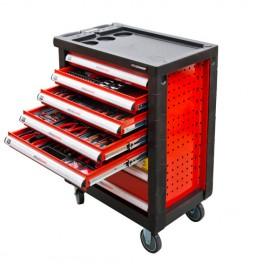 Servante d'atelier 6 tiroirs + 390 outils WW790W - Holzmann