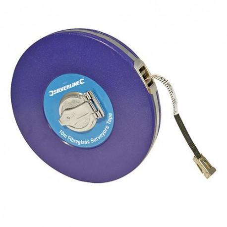 Mètre d'arpenteur, ruban en fibres de verre 30 M - MT38 - Silverline