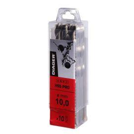 10 forets HSS meulé PRO D. 4,2 x Lu. 43 mm