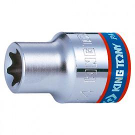 """Douille standard pour vis mâles Torx 3/8"""" - E8 L. 28 mm"""