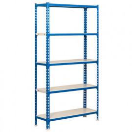 Etagère 5 niveaux 900 Kg L. 800 x Ht. 1800 x P. 400 mm KIT SIMONCLICK MINI 5/400 BLEU/BLANC - 442100024188045 - Simonclick