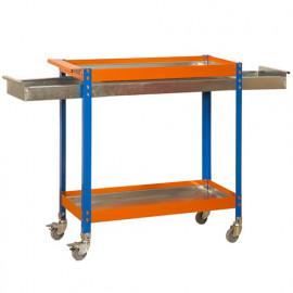 Chariot 2 niv./1 tiroir 150 Kg L. 900 x Ht. 1030 x P. 400 mm KIT SIMONWORK WAGON 2/400 BOX METALIC - 457109212103942 - Simonwork