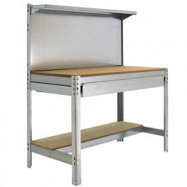 Etabli 3 niveaux/1 tiroir 875 Kg L. 1510 x Ht. 1445 x P. 610 mm KIT SIMONWORK BT3 BOX 1500 GALVA - 778100021156012 - Simonwork