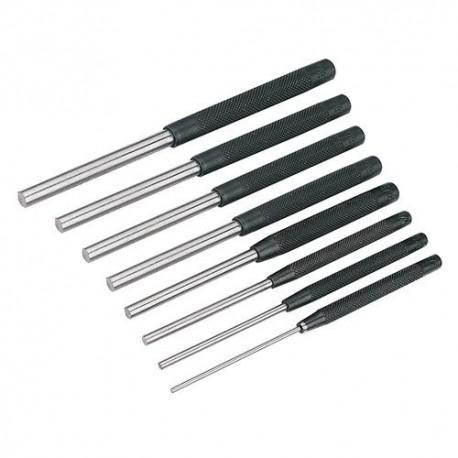 8 chasse-goupilles D. 2,4, 3,2, 4, 4,8, 5,6, 6,4, 7,9 et 9,5 mm - PC12 - Silverline