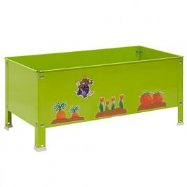 Jardinière métallique pour enfant 100 Litres KIT SIMONGARDEN URBAN KID - 410 x 900 x 400 mm - Vert - G0G100222409041 - Simonrack