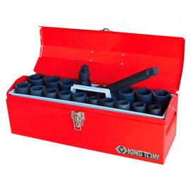 """Caisse à outils de douilles à choc 3/4"""" métriques et accessoires - 19 pièces"""