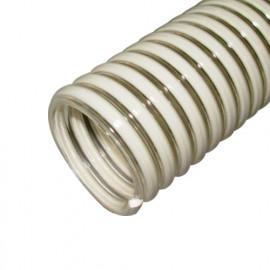 5 M de tuyau flexible d'aspiration et refoulement D. 38 mm 6 bar à spirale PVC antichoc - DW-754775002 - Diamwood