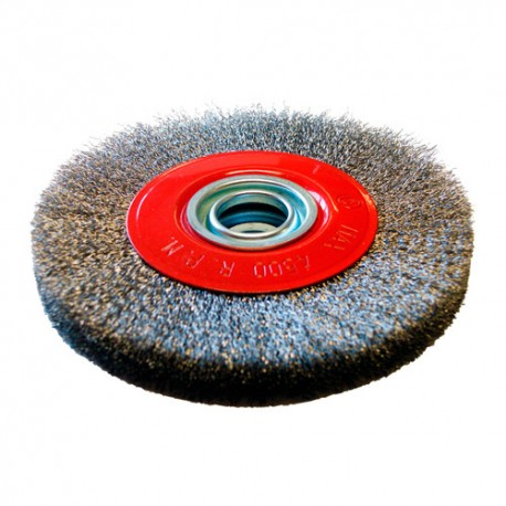 Brosse circulaire D.150 x 20 x 32 mm - Fils de 0,3 mm ondulés Inox - 10306019 - Sidamo