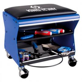 Tabouret d'atelier mobile vide - 1 plateau - 260 x 325 x 350 mm