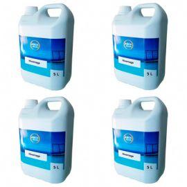 4 bidons d'hivernage piscine algicide bactéricide et anti calcaire de 5 L