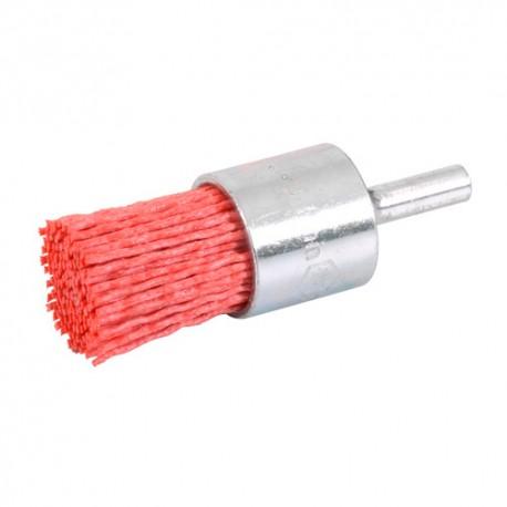 Brosse pinceau sur tige D.25 mm - Fils de 1,1 mm nylon abrasif Gr 80 - 10314032 - Sidamo