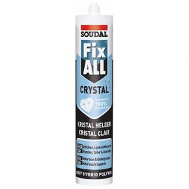 Mastic colle Fix All 290 ML crystal Transparent - 110980 - Soudal