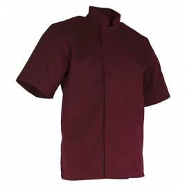 Veste de cuisinier à manches courtes - CONFITURE - Bordeaux