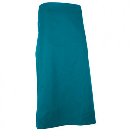 Tablier de cuisinier long rectangle 90 cm - HOTTE - Bleu canard