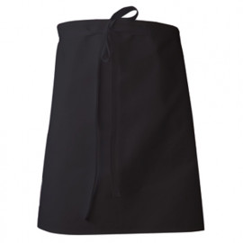 Tablier de cuisinier court rectangle 55 cm - TAMIS - Noir