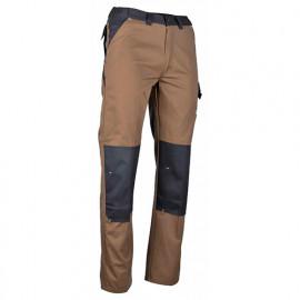 Pantalon multipoche bicolore multipoche - FORGERON - Chataigne / Gris sombre