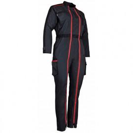 Combinaison 2 zips bicolore femme - COLLINE - Gris / Noir