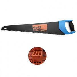 Scie à main matériaux L. 600 mm x Z 74 spéciale brique rouge creuse - Diamwood Platinum