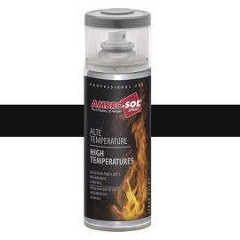 Peinture haute température noir brillant 400 ml - V400TEMP.7 - Ambro-sol