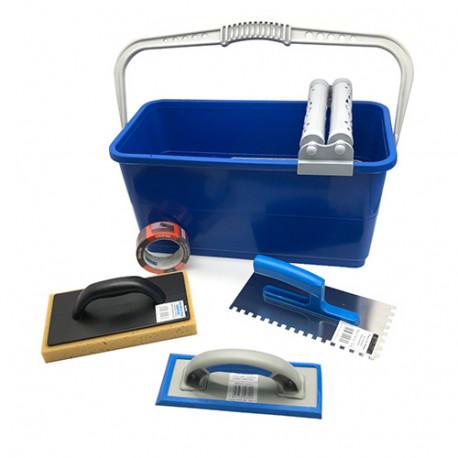 Kit PRO avec bac 25 Litres spécial joints de carrelage + 4 accessoires - Diamwood platinum