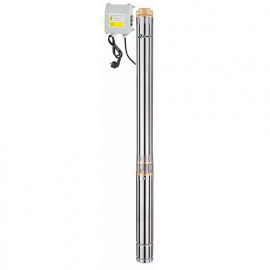 Pompe immergée inox 3, 750 W 230 V, 108 m, 2,8 m3/h avec tableau électrique