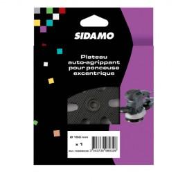 Plateau support auto-agrippant pour disques perforés D.150 mm pour ponceuse - 10998032 - Sidamo