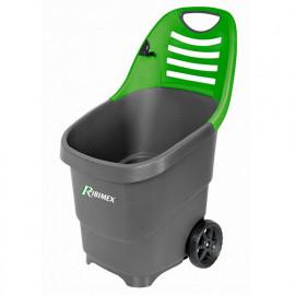 Chariot de jardin pour ramassage déchets/feuilles, 65 L