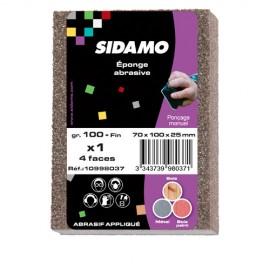 25 éponges à poncer 4 Faces 70 x 100 x 25 mm Gr 100 Fin - 10998037 - Sidamo