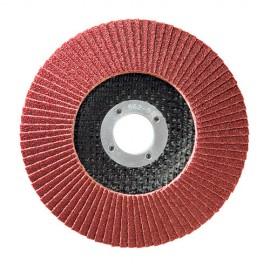10 disques à lamelles corindon D.115 x 22,23 mm Gr 40 A Convexe Lamdisc support fibre - 11001001 - Sidamo