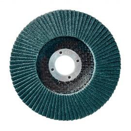 10 disques à lamelles zirconium D.115 x 22,23 mm Gr 40 Z Convexe Lamdisc support fibre - 11001014 - Sidamo