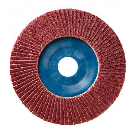 10 disques à lamelles corindon D.125 x 22,23 mm Gr 40 A Plat Lamdisc support nylon - 11001055 - Sidamo
