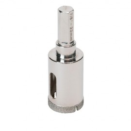 Trépan diamant à eau D.6 x 35 mm sur tige - Céramique/Grès/Granit - 11101400 - Sidamo