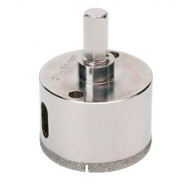 Trépan diamant à eau D.29 x 35 mm sur tige - Céramique/Grès/Granit - 11101406 - Sidamo