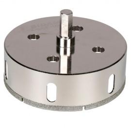 Trépan diamant à eau D.105 x 35 mm sur tige - Céramique/Grès/Granit - 11101417 - Sidamo