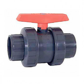 Vanne anti-block PVC PN-10 Ø 63 mm à boisseau sphérique à coller