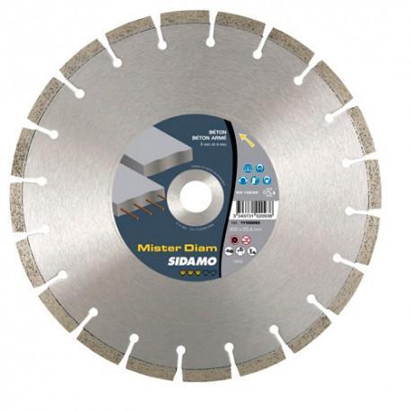 Disque diamant MISTER DIAM D.300 x 25,4-20 x 10 x ép. 2,8 mm - Béton/Béton armé/Matériaux - 11102093 - Sidamo