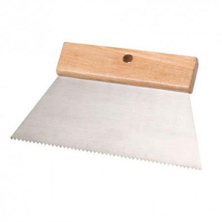 """Couteau à colle 200 mm Denture """"V"""" 2,8 x 1,5 mm - 11200010 - Sidamo"""
