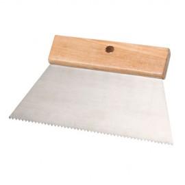 """Couteau à colle 200 mm Denture """"V"""" 4 x 2,5 mm - 11200011 - Sidamo"""
