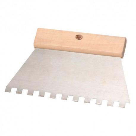 """Couteau à colle 200 mm Denture """"U"""" 5 x 5 mm - 11200013 - Sidamo"""