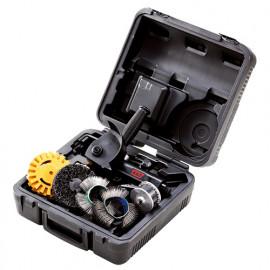 Coffret de brosseuse pneumatique D. 87 mm et accessoires - 6 pièces