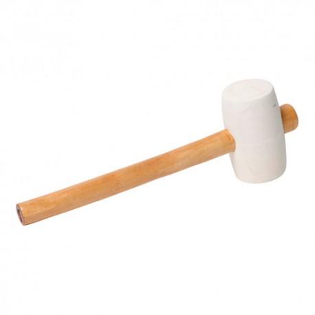 Maillet caoutchouc blanc - 500 G - D. 60 mm - 11200104 - Sidamo