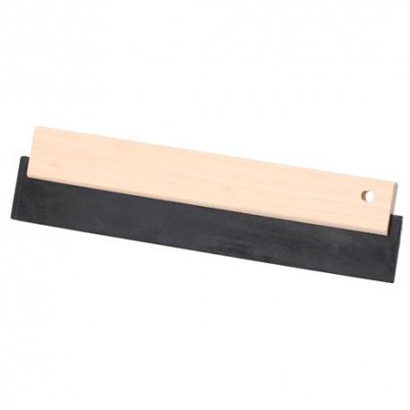 Raclette caoutchouc noir 300 x 75 mm avec monture bois - 11200160 - Sidamo