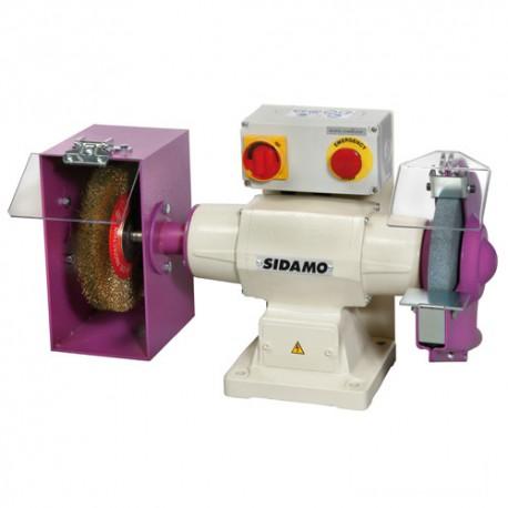 Touret meule - brosse 140 D. 200 mm - 230V 750W - 20113005 - Sidamo