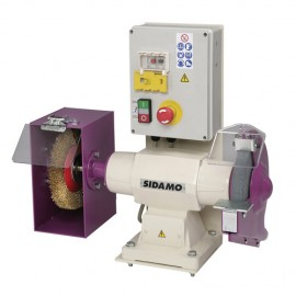 Touret meule - brosse avec frein 134 FR D. 200 mm - 400V 750W - 20113035 - Sidamo