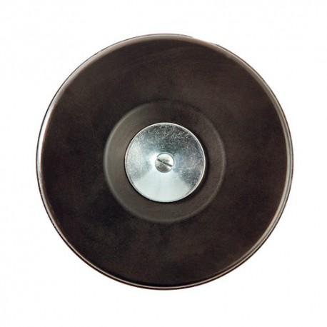 Plateau support caoutchouc disques D. 125 mm avec tige et écrou pour perceuse - 20198063 - Sidamo