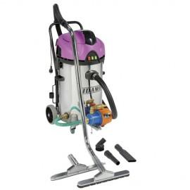 Aspirateur eau et poussières cuve inox JET 60 iRE - 50 L - 230V 2x 1200W - 20402050 - Sidamo