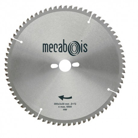 Lame carbure NE2 D. 300 x 3 x 30 mm Z 72 TP Nég. - Alu/Zinc/Plastique - 290183 - Sidamo