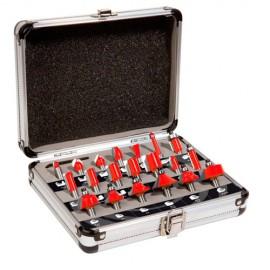 Coffret assortiment de 20 mèches de défonceuse Q. 8 mm - Tous Profils - 600020 - Sidamo